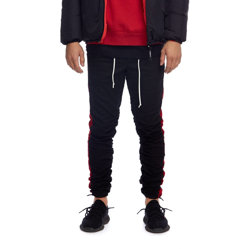 STRIPED HYBRID TROUSERBLACK/RED