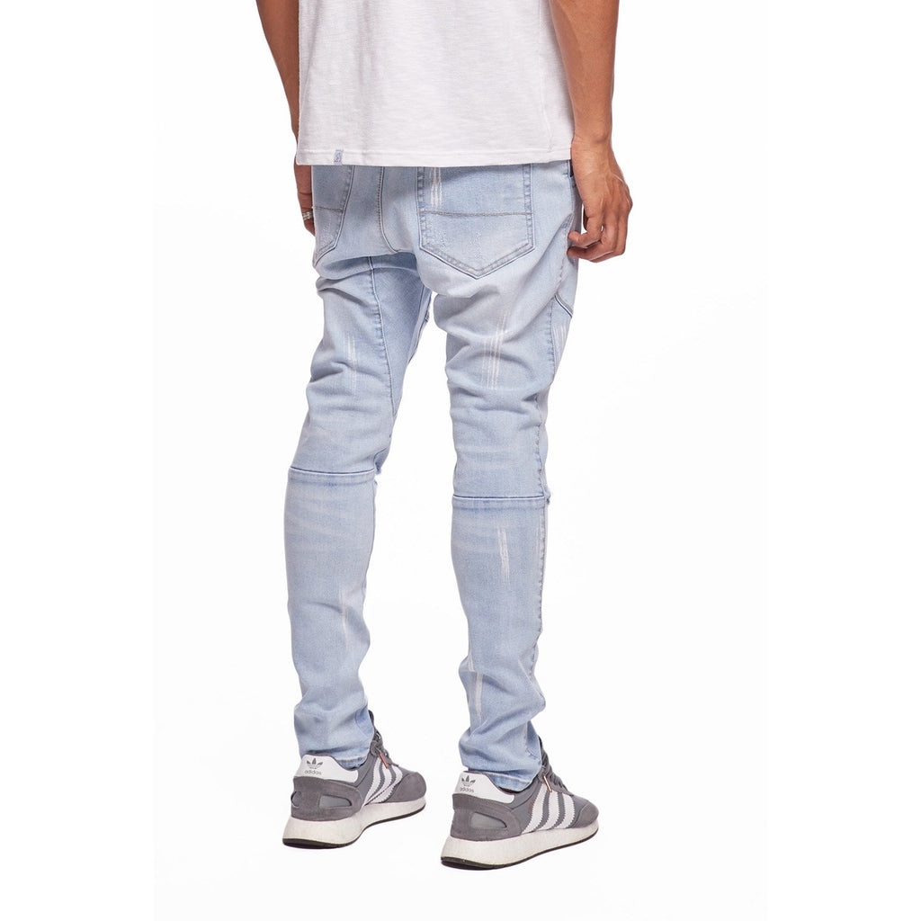 Paint Open Leg Denim Jogger
