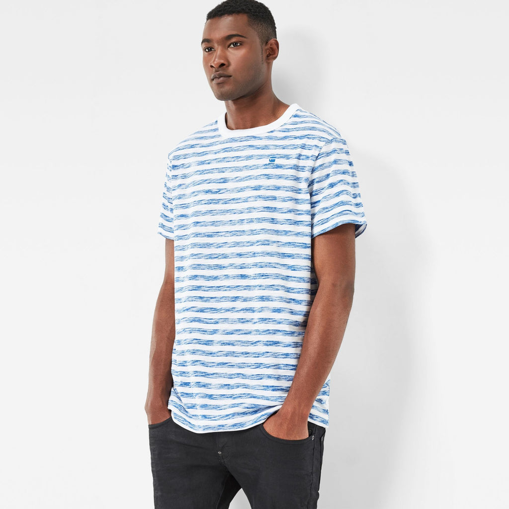Kantano Relaxed T-Shirt White/Lt Nassau Blue Stripe