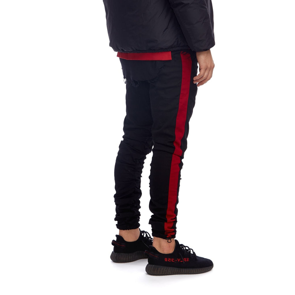 Striped Hybrid Trouser Black/Red