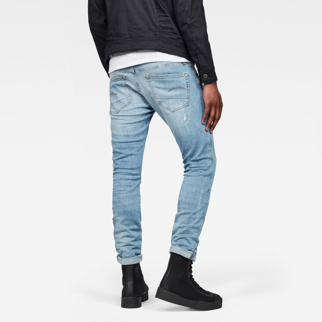 3301 Deconstructed Super Slim Jeans Light Aged Restored