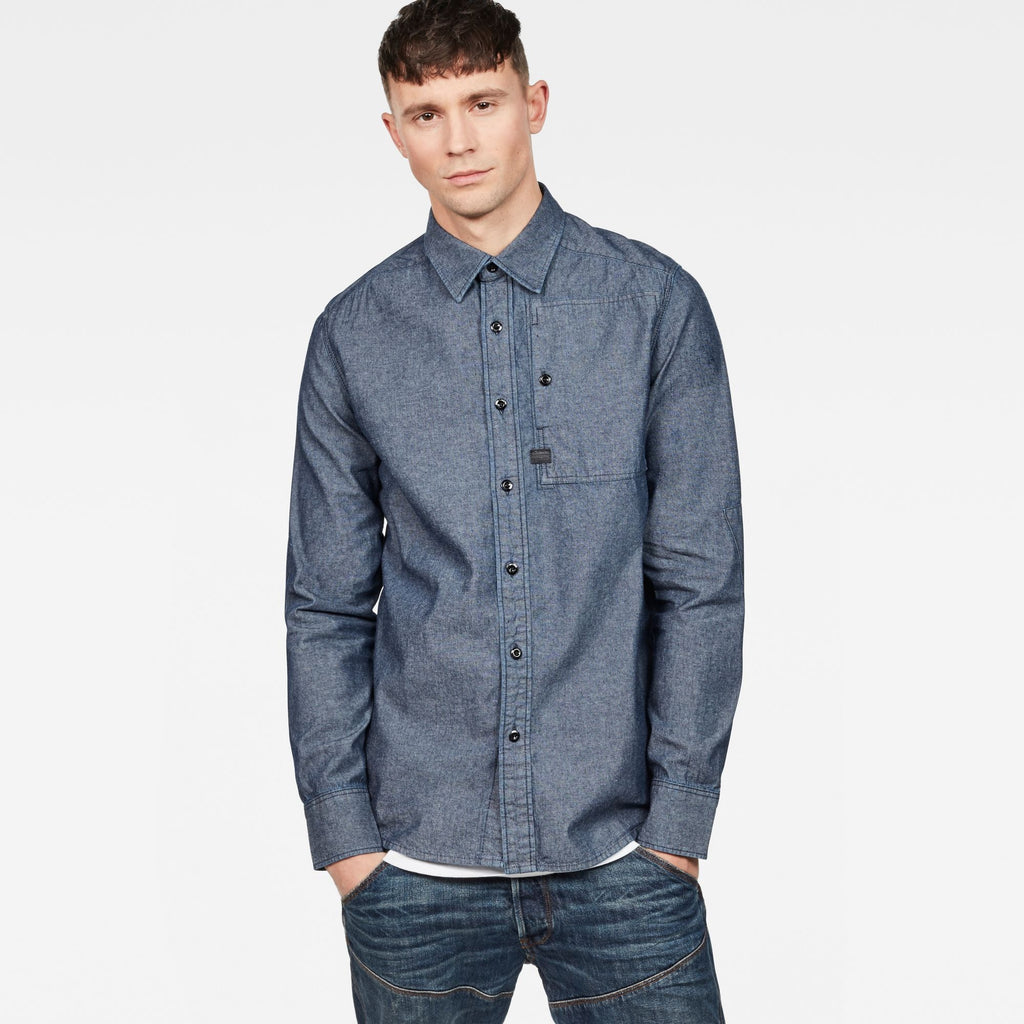 H-A Stalt Straight Shirt Rinsed