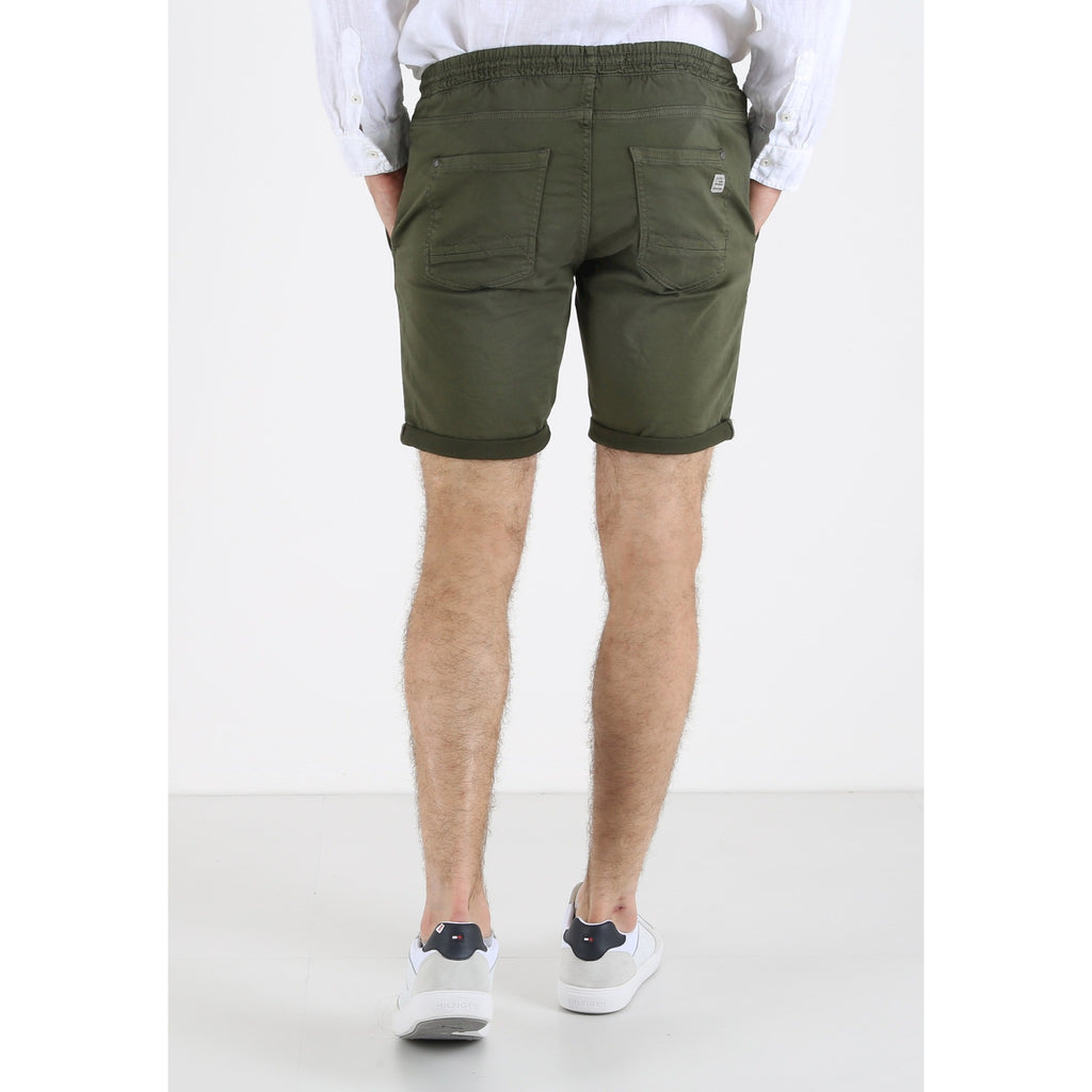 Jogg Denim Shorts Dusty Olive Green
