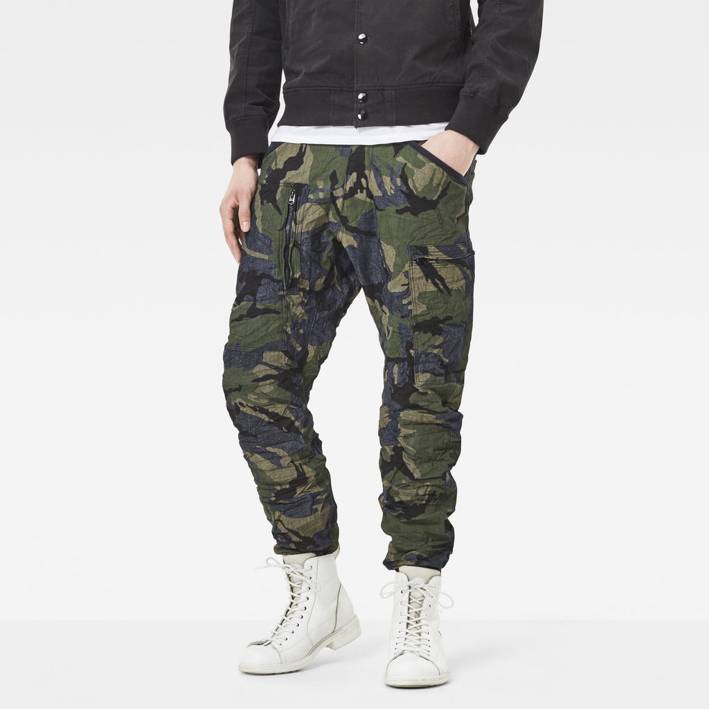 Powel 3D Tapered Cuffed Pants Raw/Lt Aged Olive Ao