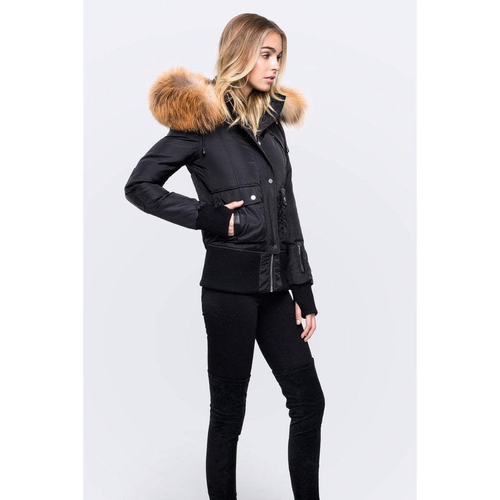 Women's Nicole Benisti Fordham Coat - Black/Gold