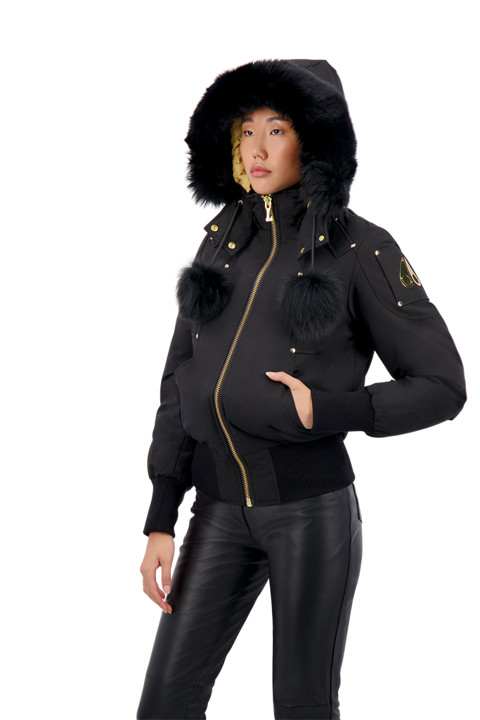 MOOSE KNUCKLES SAINTE FLAVIE BOMBER BLACK/BLACK FUR
