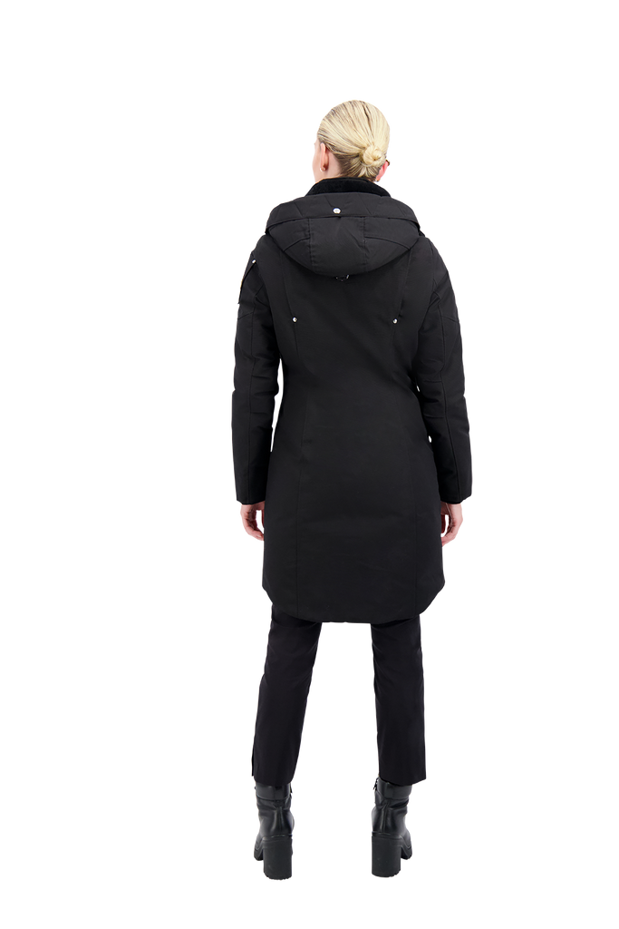 MOOSE KNUCKLES LONGUE RIVE PARKA BLACK/BLACK SHERPA
