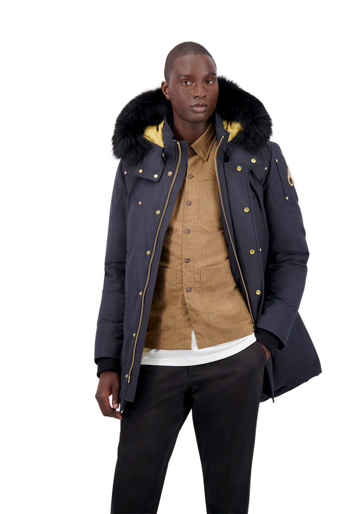 MOOSE KNUCKLES STAG LAKE PARKA NAVY / BLACK FOX FUR