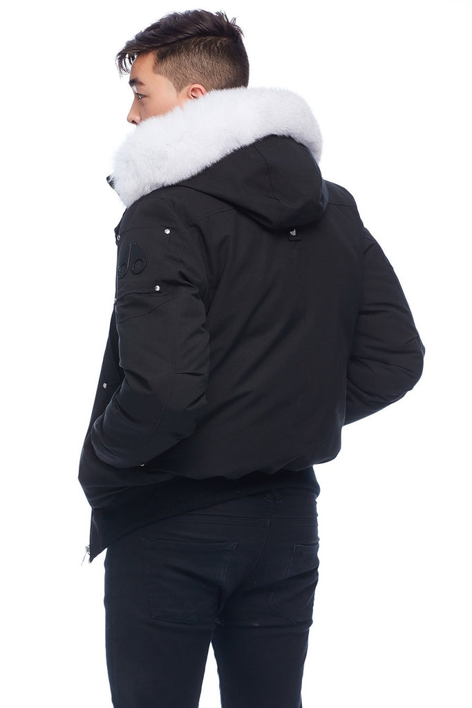 MOOSE KNUCKLES BALLISTIC BLACK/NATURAL FOX FUR