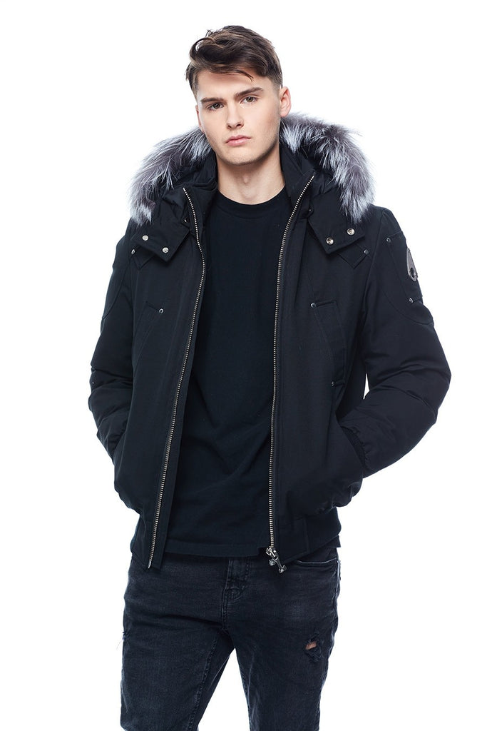 MOOSE KNUCKLES BALLISTIC BLACK/SILVER FOX FUR