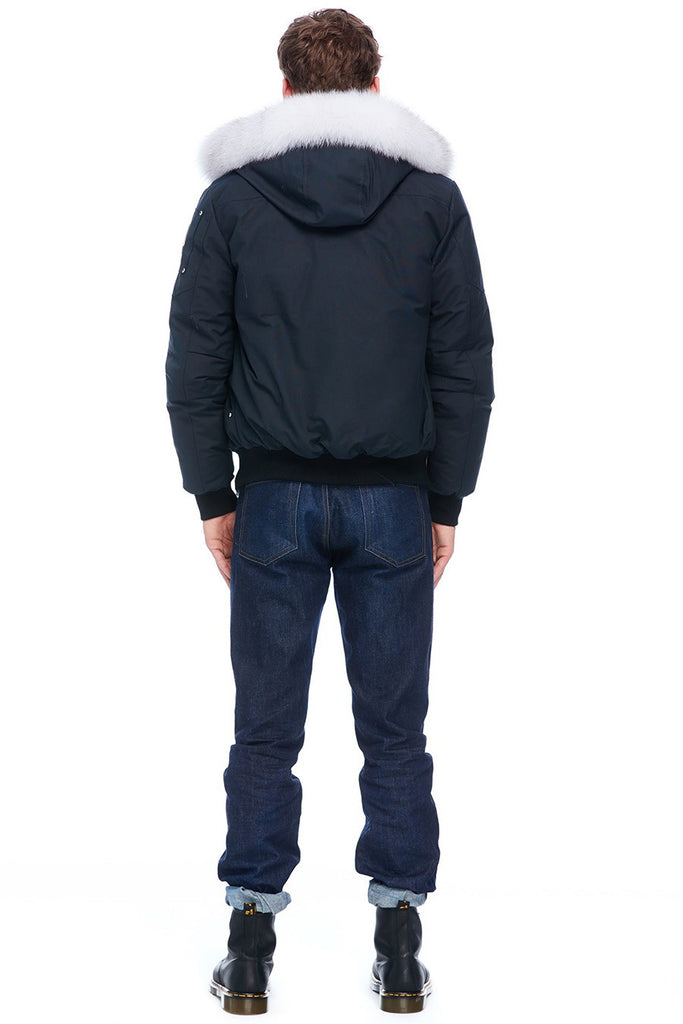MOOSE KNUCKLES BALLISTIC NAVY/NATURAL FOX FUR