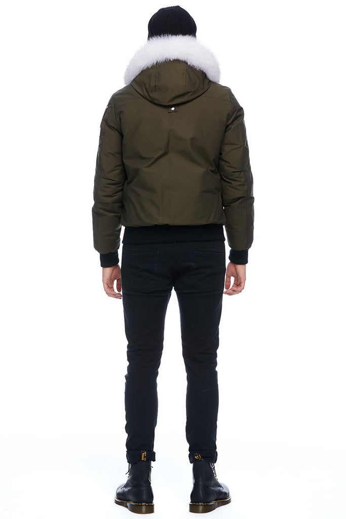MOOSE KNUCKLES BALLISTIC BOMBER ARMY/NATURAL FOX FUR