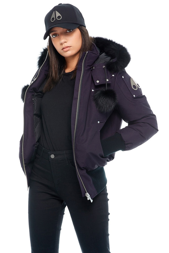 MOOSE KNUCKLES DEBBIE BOMBER ABYSS/BLACK FOX FUR