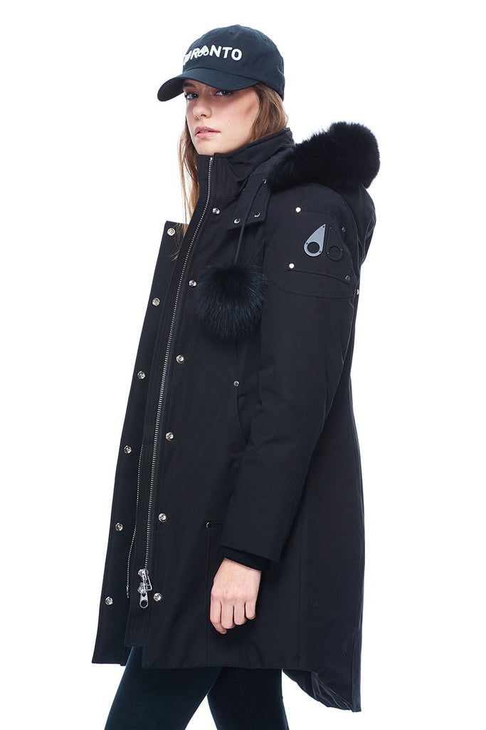 MOOSE KNUCKLES STIRLING PARKA BLACK/BLACK FOX FUR