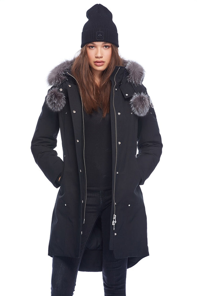 MOOSE KNUCKLES STIRLING PARKA BLACK/FROST FOX FUR