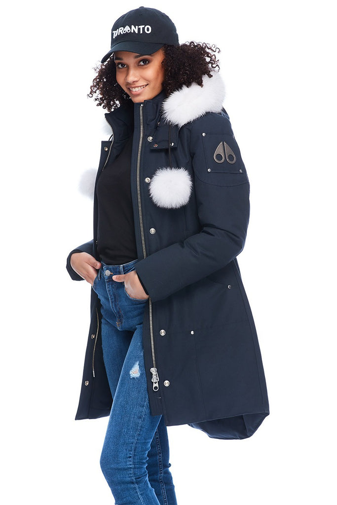MOOSE KNUCKLES STIRLING PARKA NAVY/NATURAL FOX FUR