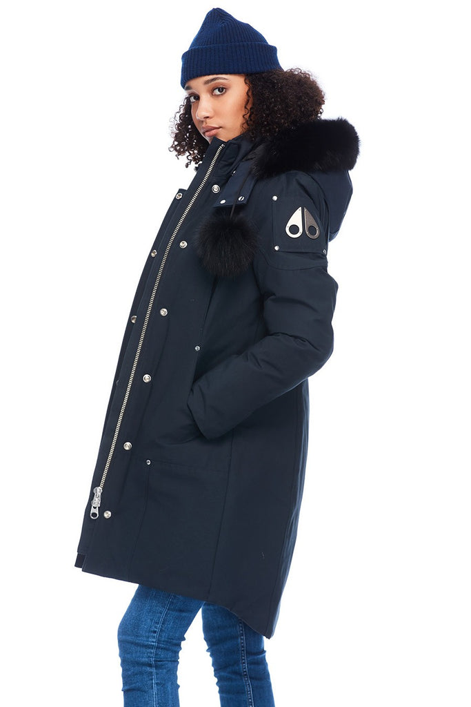 MOOSE KNUCKLES STIRLING PARKA NAVY/BLACK FOX FUR
