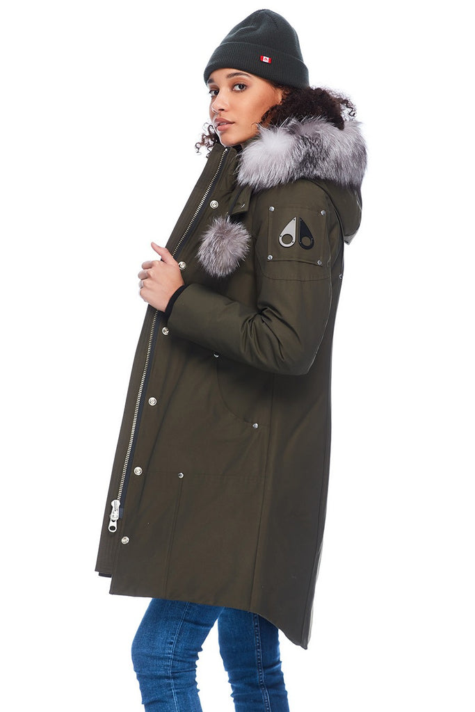 MOOSE KNUCKLES STIRLING PARKA ARMY/FROST FOX FUR