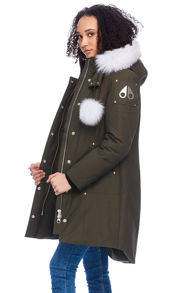 MOOSE KNUCKLES STIRLING PARKA ARMY/NATURAL FOX FUR