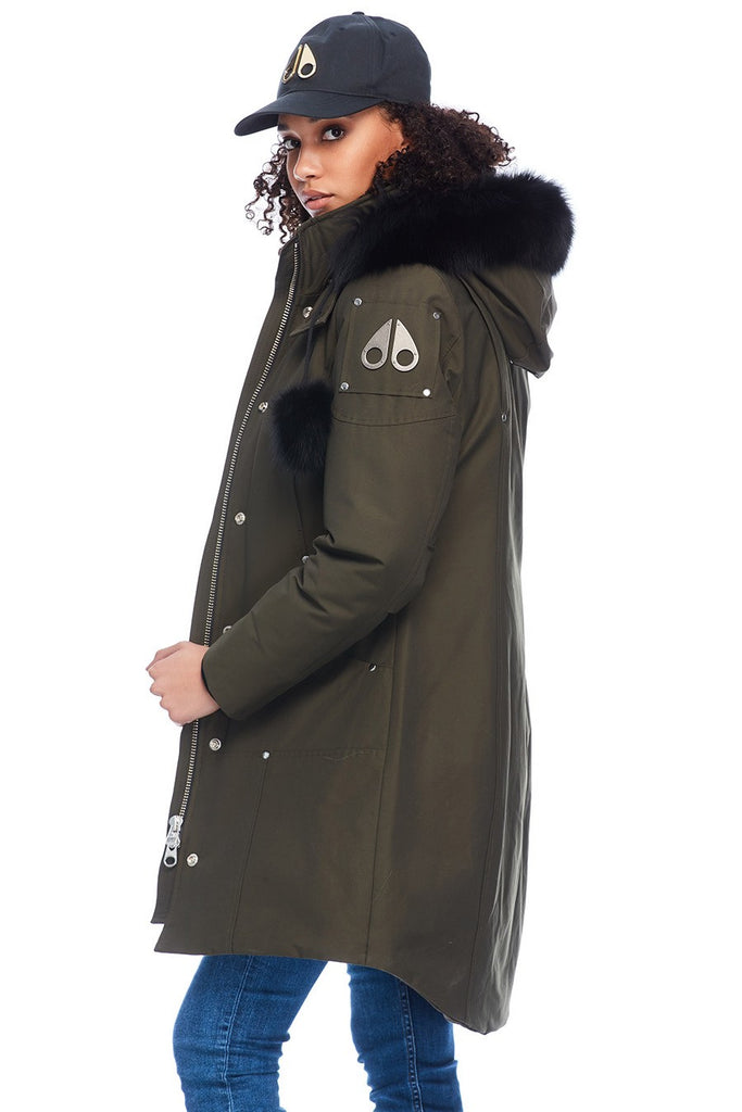 MOOSE KNUCKLES STIRLING PARKA ARMY/BLACK FOX FUR