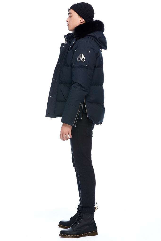 MOOSE KNUCKLES 3Q JACKET NAVY/BLACK FOX FUR