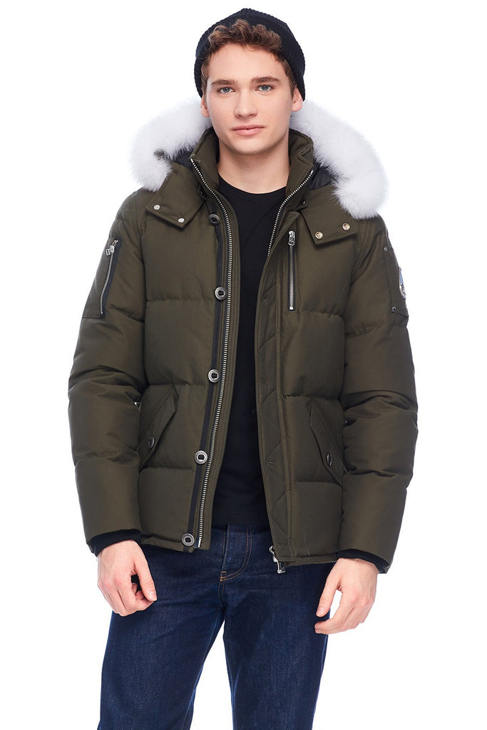 MOOSE KNUCKLES 3Q JACKET ARMY/WHITE FOX FUR