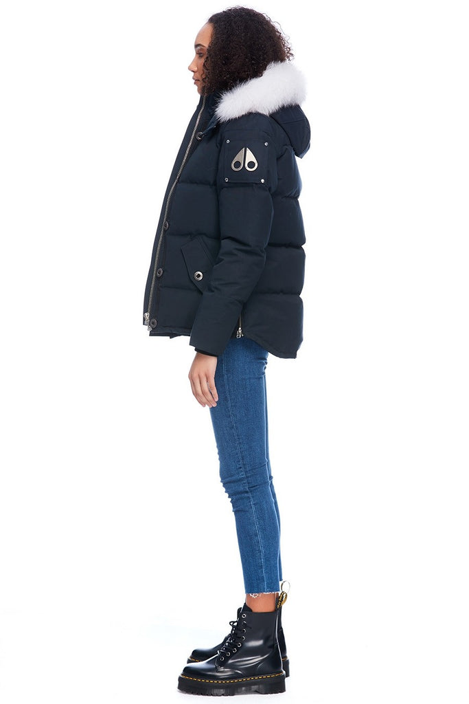 MOOSE KNUCKLES 3Q JACKET NAVY/NATURAL FOX FUR
