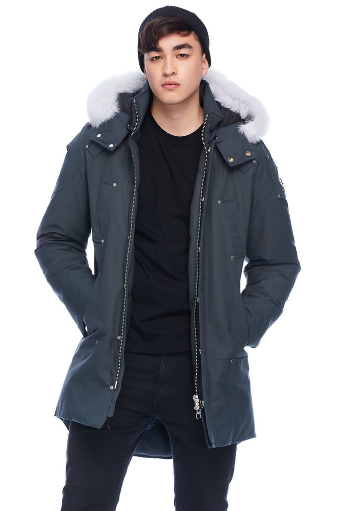 MOOSE KNUCKLES STIRLING PARKA GRANITE/NATURAL FOX FUR