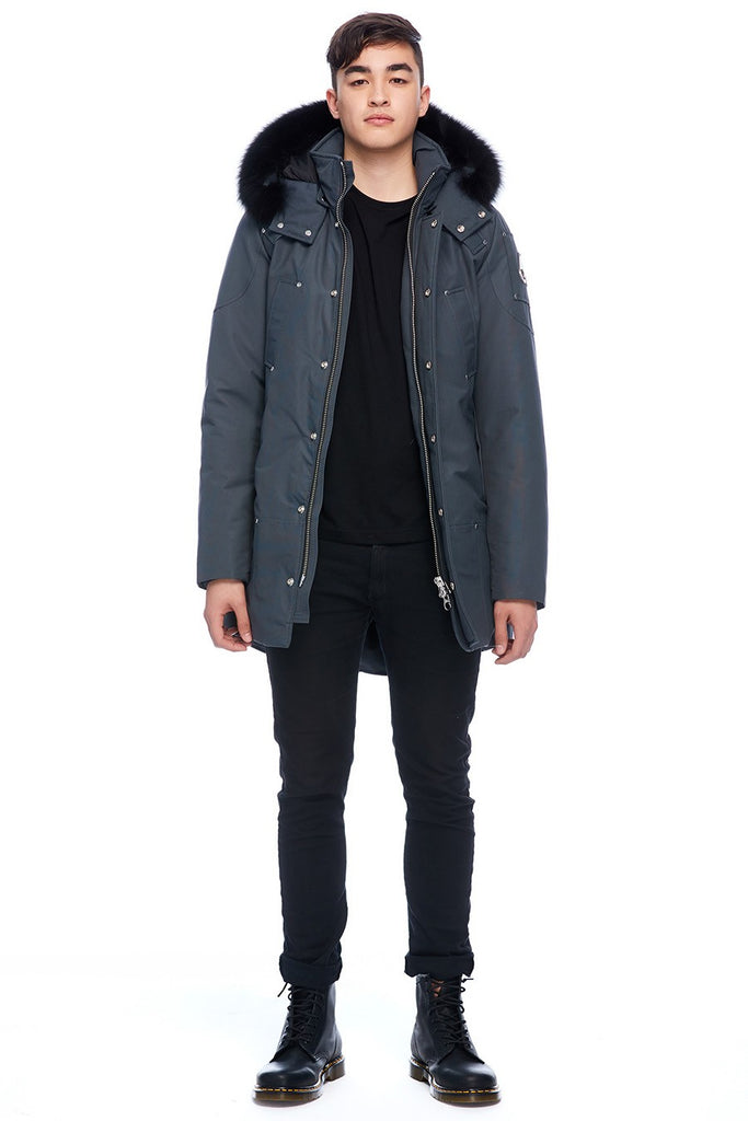 MOOSE KNUCKLES STIRLING PARKA GRANITE/BLACK FOX FUR