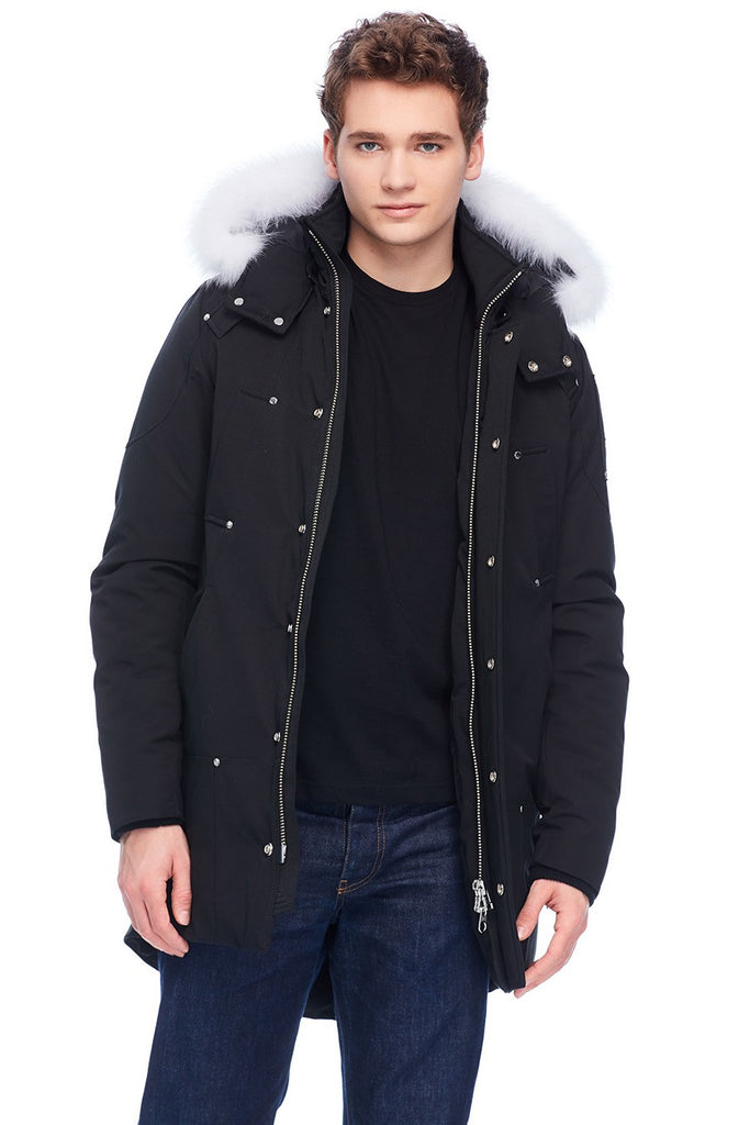 MOOSE KNUCKLES STIRLING PARKA BLACK/NATURAL FOX FUR