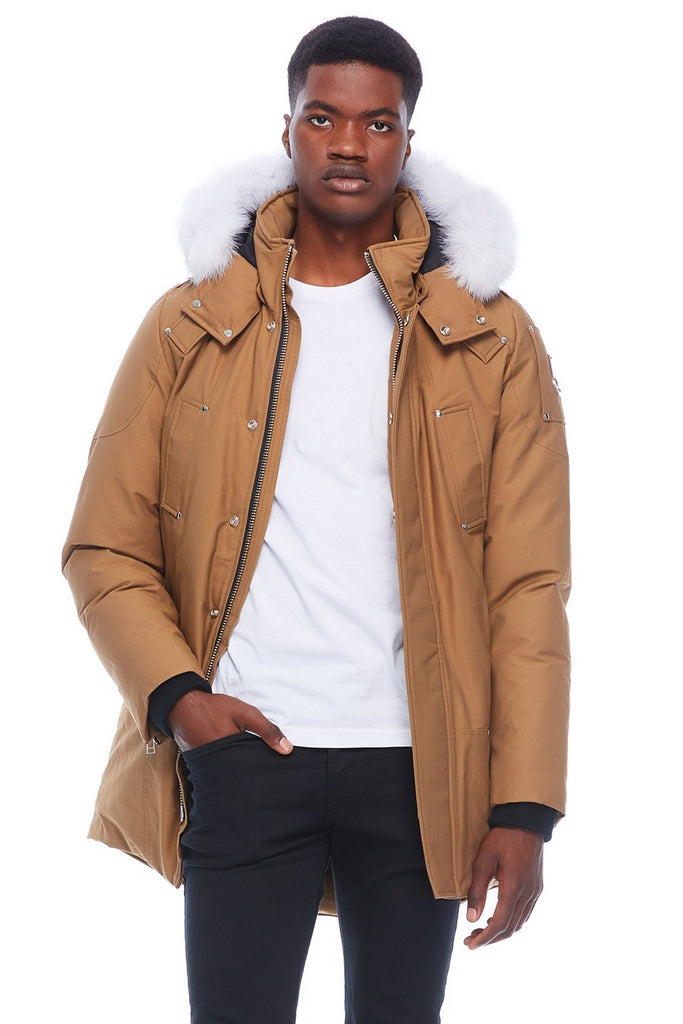 MOOSE KNUCKLES STIRLING PARKA WAXIE/NATURAL FOX FUR