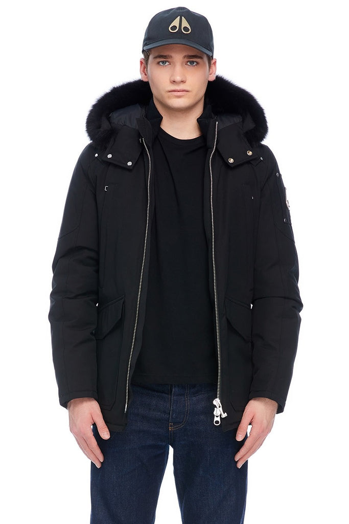 MOOSE KNUCKLES PEARSON JACKET BLACK/BLACK FOX FUR