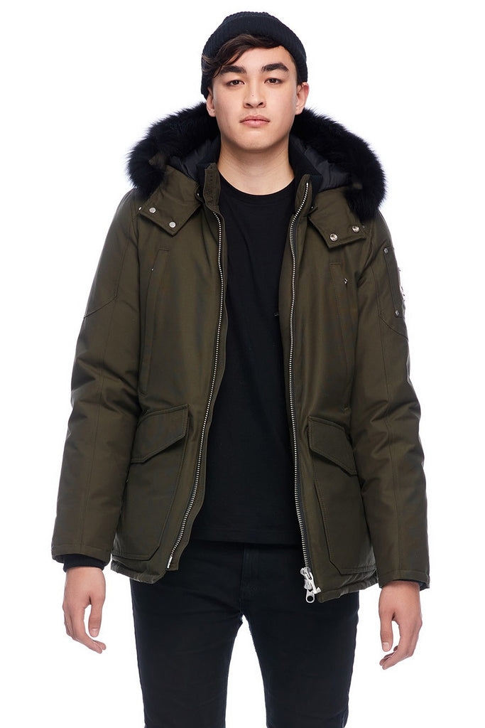 MOOSE KNUCKLES PEARSON JACKET ARMY/BLACK FOX FUR