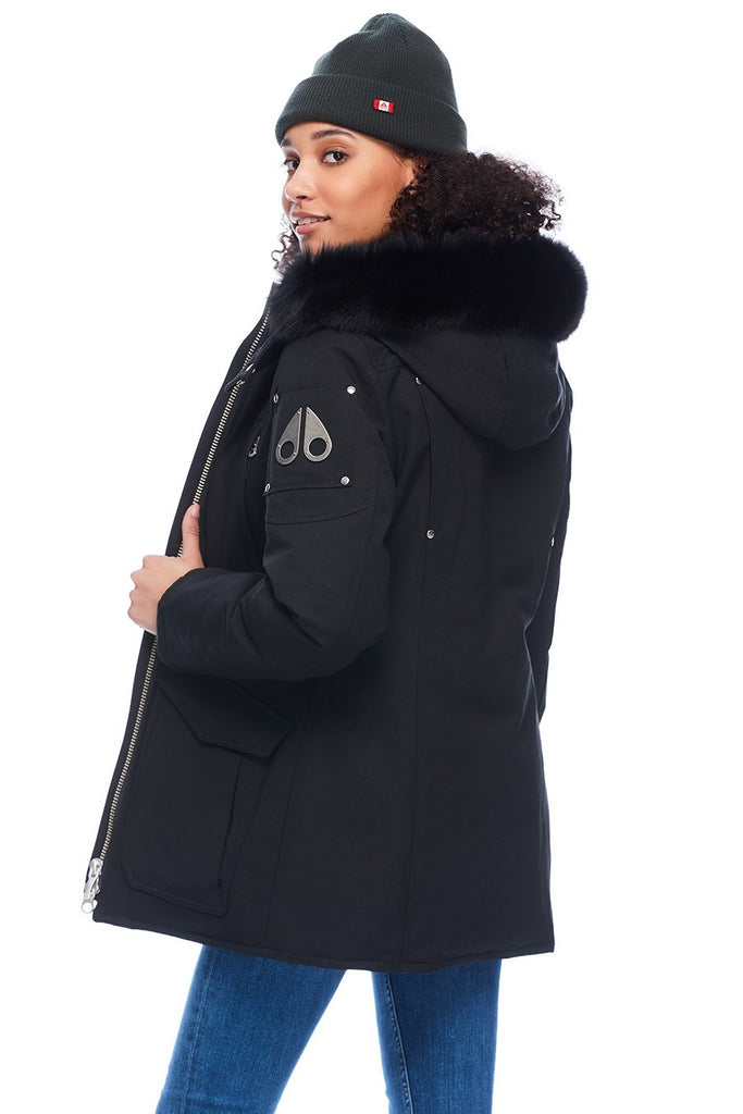 MOOSE KNUCKLES FIRE RIVER JACKET BLACK/BLACK FOX FUR