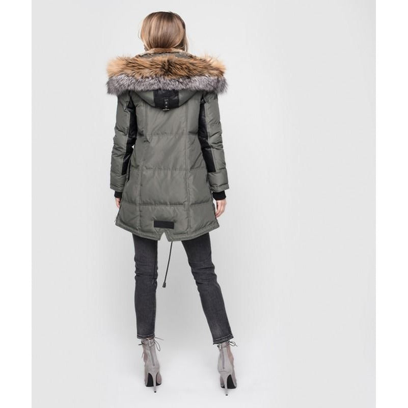Women's Nicole Benisti Chelsea Coat - Military/Gold/Grey