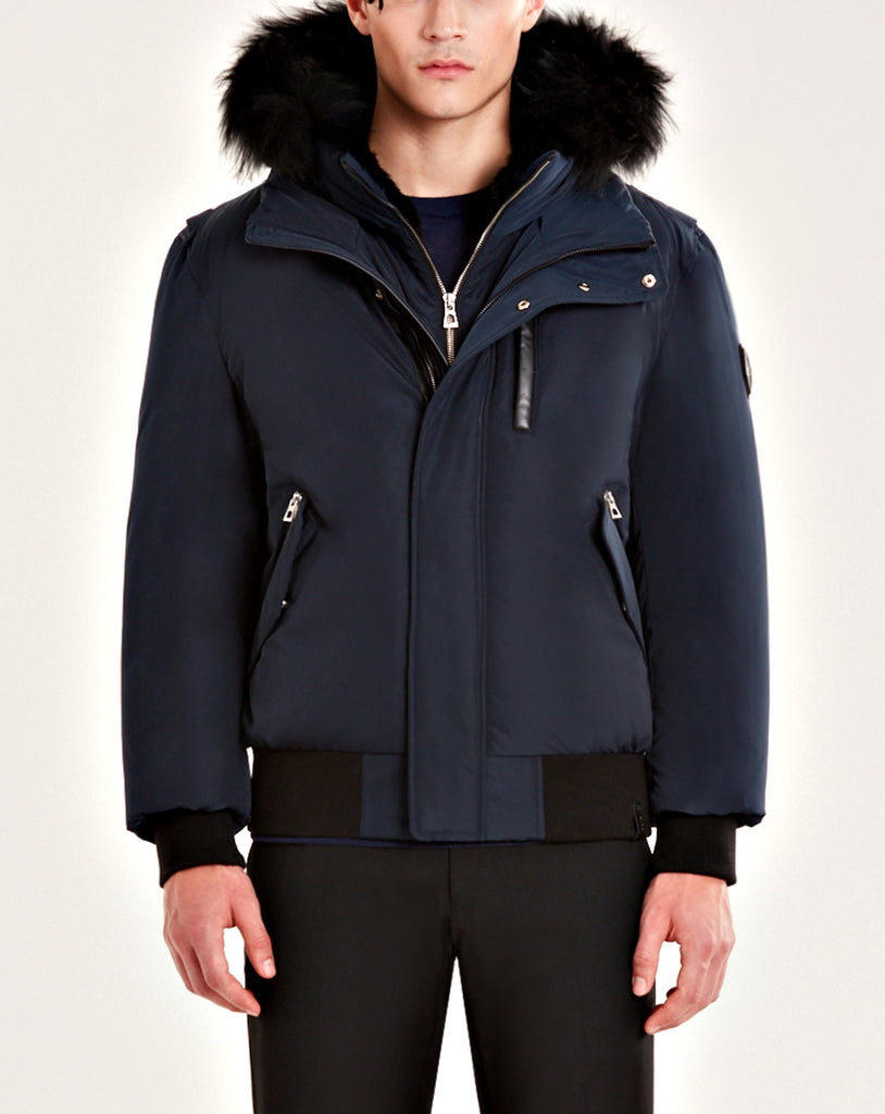 MENS RUDSAK STEPHAN NAVY/BLACK FUR