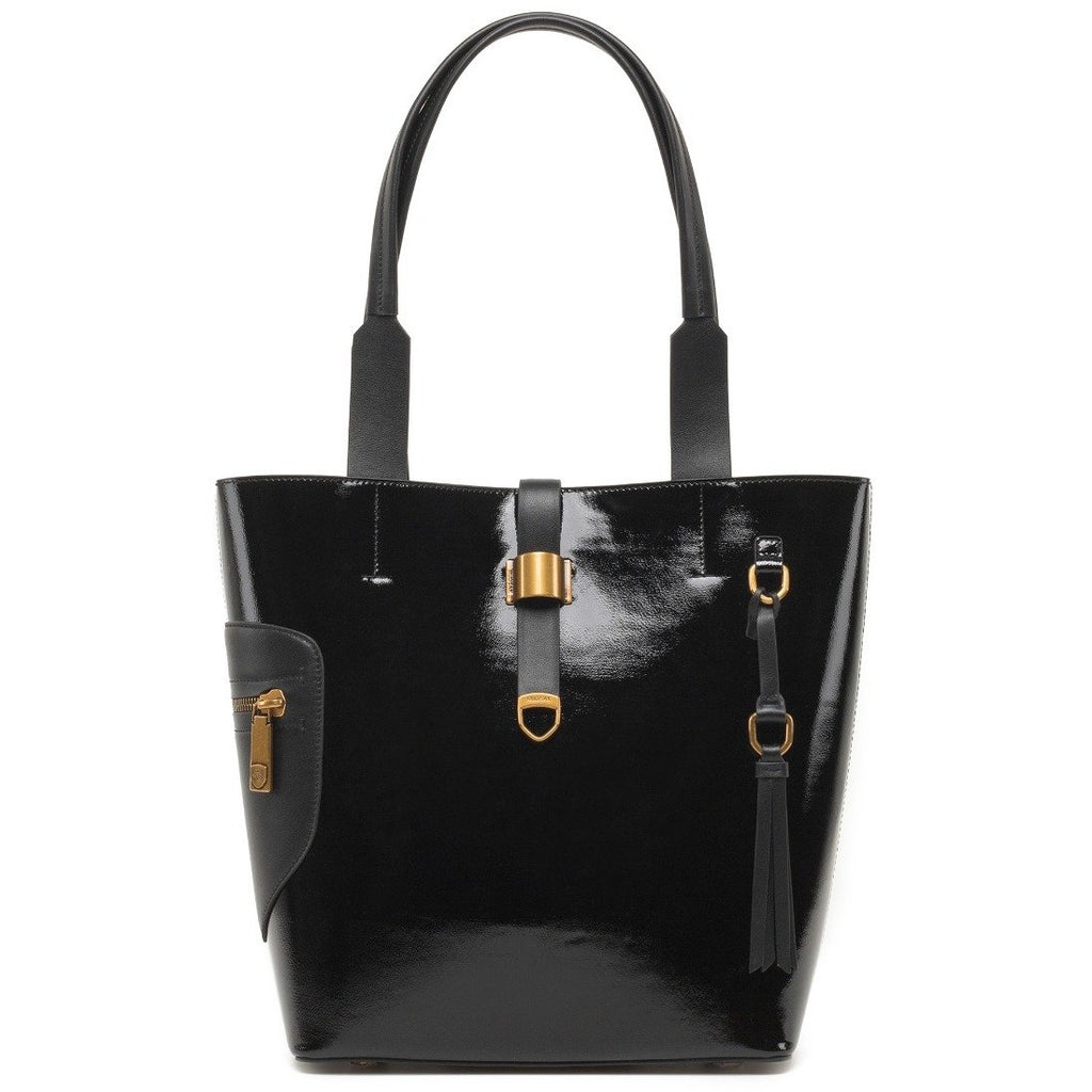Women's Rudsak Prima Patent Leather Tote Bag - Black