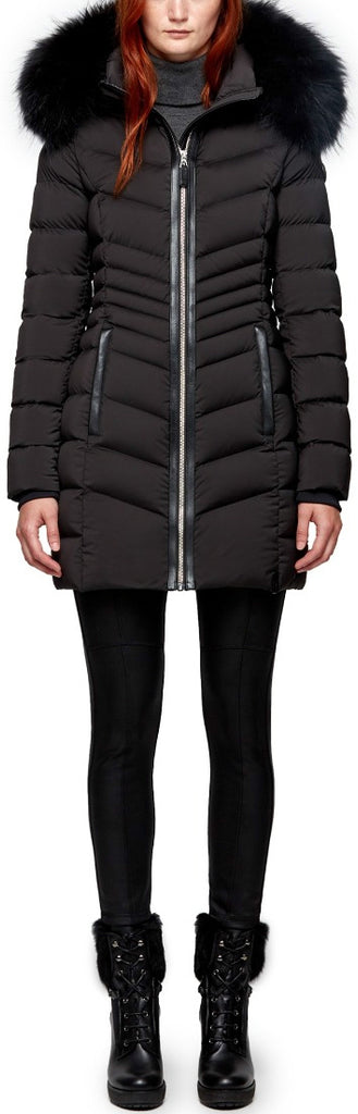 Women's Rudsak Malefica Winter Coat - Black/Black