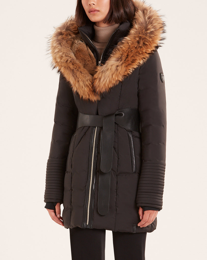 WOMENS RUDSAK MODA BLACK/NATURAL FUR