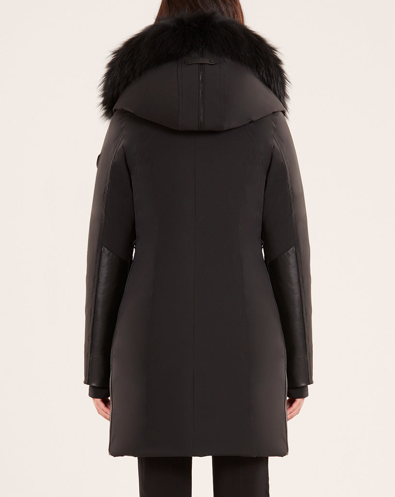 WOMENS RUDSAK MONKLAND BLACK/BLACK FUR