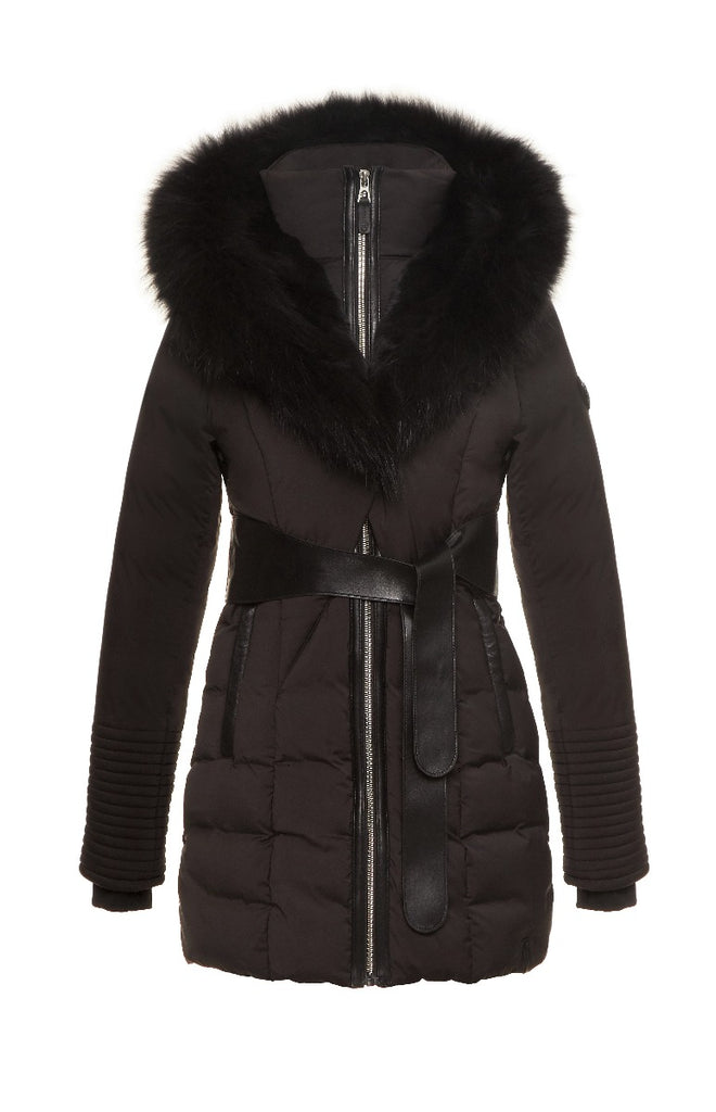WOMENS RUDSAK MODA BLACK/BLACK FUR