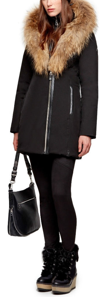 Women's Rudsak Toronto Jacket - Black/Natural