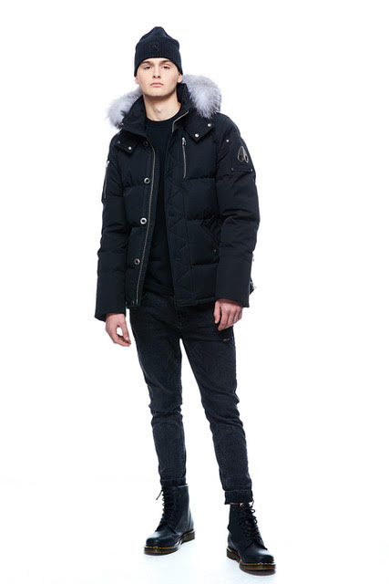 Men's Moose Knuckles 3Q Jacket - Black/Silver