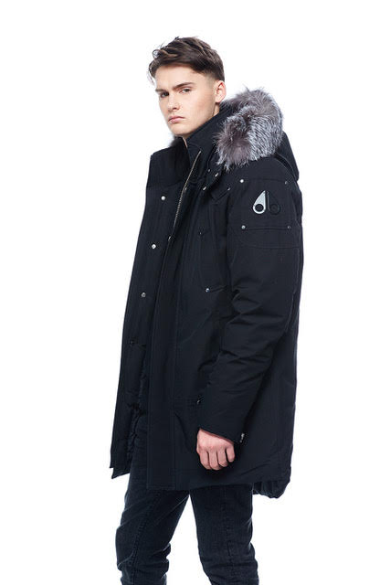 Men's Moose Knuckles Stirling Parka - Black/Silver