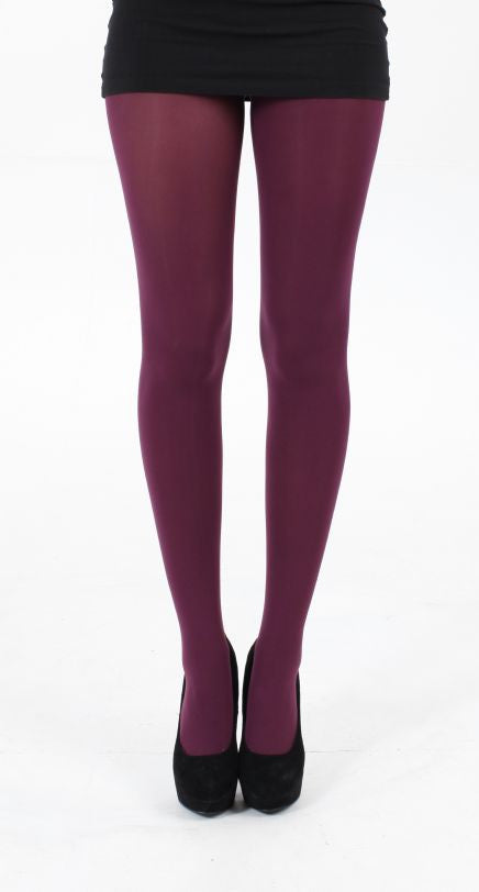 Damson 80 Denier Solid Colour Tights by Pamela Mann UK on Tights Etc South Africa