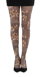 Version Brown bricks sixties style printed Tights by Pamela Mann UK on Tights Etc South Africa