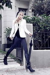 LEGGIES AMSTERDAM  Cotton Leggies in Black with Side Patches in Faux Leather only on Tights Etc South Africa