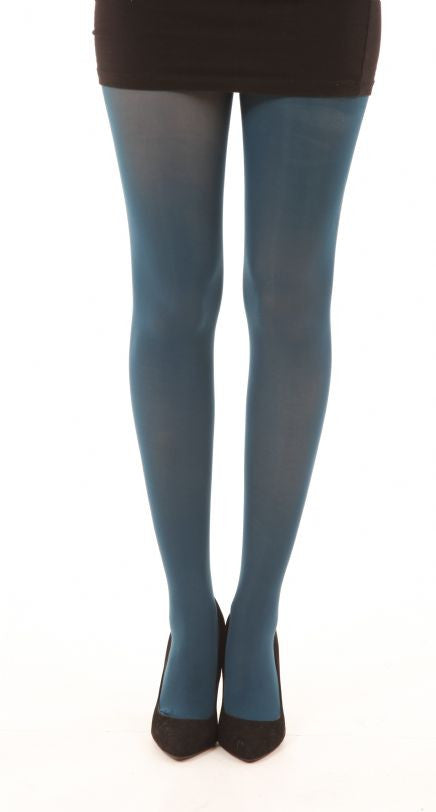 Dark Teal Solid Colour 80 Denier Tights by Pamela Mann UK Tights Etc South Africa