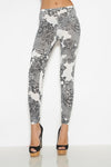 Leggies Amsterdam cotton Tights in Grey and white scattered spots and splashes pattern leggings on Tights Etc South Africa