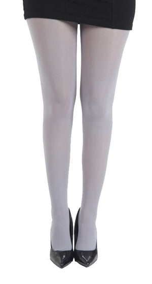 Dove Grey 80 Denier Tights Solid Colour. Full Coverage. by Pamela Mann UK on Tights Etc South Africa
